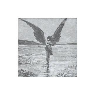 Ejemplo del carbón de leña del ángel del diablo de
