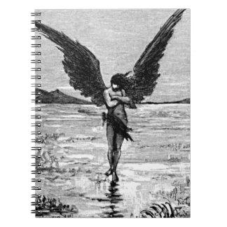 Ejemplo del carbón de leña del ángel del diablo de cuadernos