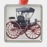 Ejemplo del carro sin caballo adorno navideño cuadrado de metal