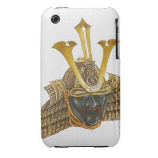 Ejemplo del casco del siglo XVI del samurai iPhone 3 Protectores