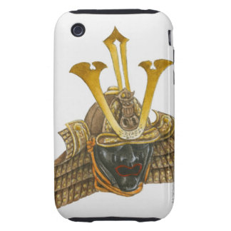 Ejemplo del casco del siglo XVI del samurai iPhone 3 Tough Carcasa