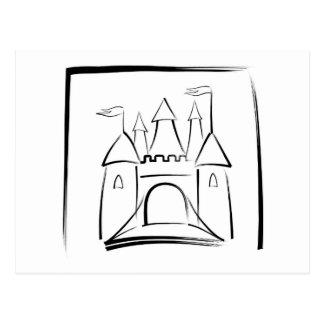 Ejemplo del castillo con el puente levadizo tarjetas postales