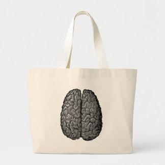 Ejemplo del cerebro humano del vintage bolsas