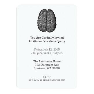 """Ejemplo del cerebro humano del vintage invitación 5"""" x 7"""""""