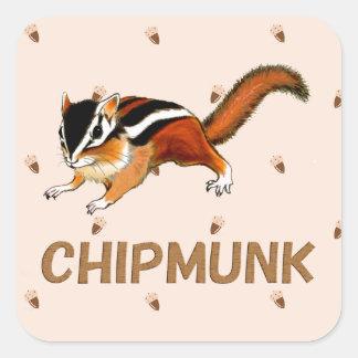 Ejemplo del Chipmunk (2) Pegatina Cuadrada