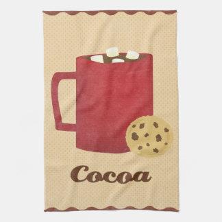Ejemplo del chocolate caliente toalla de mano
