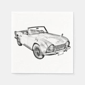 Ejemplo del coche de deportes de Triumph Tr4 Servilletas Desechables