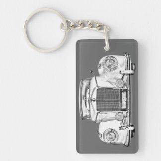 Ejemplo del coche del lujo del Benz 300 de Llavero Rectangular Acrílico A Doble Cara