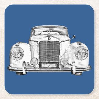 Ejemplo del coche del lujo del Benz 300 de Posavasos De Cartón Cuadrado