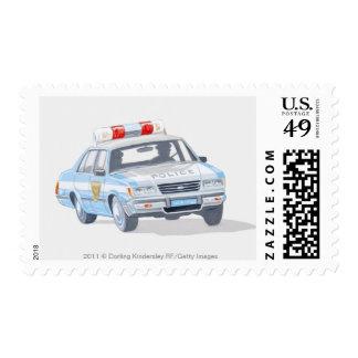 Ejemplo del coche policía con dos policías envio