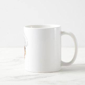 Ejemplo del cocinero del dibujo animado taza de café