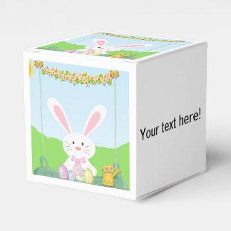 Ejemplo del conejito de pascua cajas para regalos
