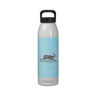 Ejemplo del conejo de conejito de las liebres del  botella de agua