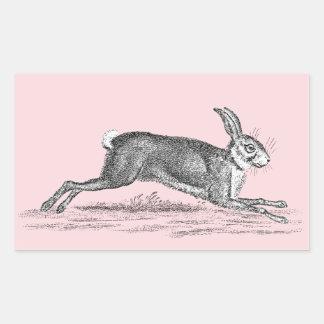 Ejemplo del conejo de conejito de las liebres del rectangular pegatinas
