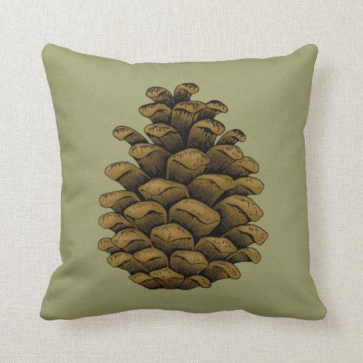 Ejemplo del cono del pino almohadas