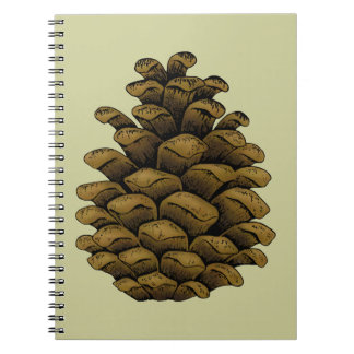 Ejemplo del cono del pino cuaderno