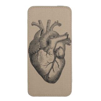 Ejemplo del corazón del vintage funda acolchada para iPhone