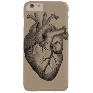 Ejemplo del corazón del vintage funda para iPhone 6 plus barely there