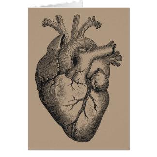 Ejemplo del corazón del vintage tarjeta de felicitación