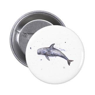 Ejemplo del delfín de Risso Pin Redondo De 2 Pulgadas