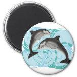 Ejemplo del delfín imán redondo 5 cm