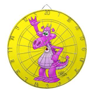 Ejemplo del dibujo animado de un dragón púrpura