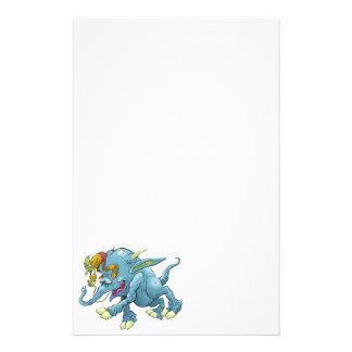 Ejemplo del dibujo animado, de una criatura papeleria personalizada