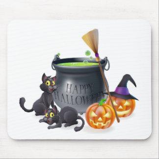 Ejemplo del dibujo animado del feliz Halloween Alfombrilla De Raton