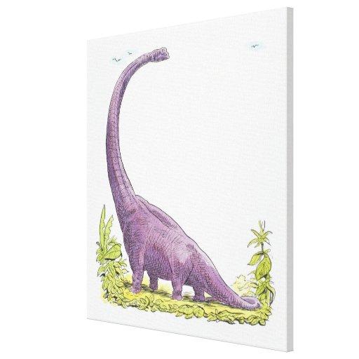 Ejemplo del dinosaurio de Giraffatitan Lienzo Envuelto Para Galerías