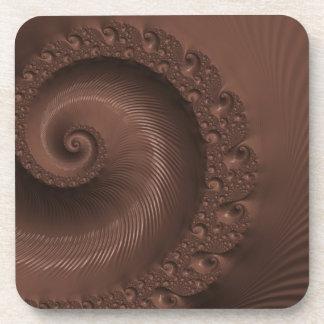 Ejemplo del diseño del fractal del chocolate posavasos