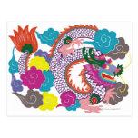 Ejemplo del dragón chino con 2 vibrantes postal