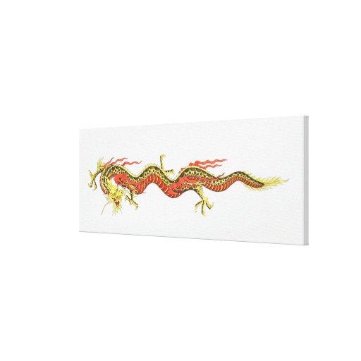 Ejemplo del dragón chino impresiones en lona