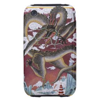 Ejemplo del dragón enojado, representando tough iPhone 3 fundas