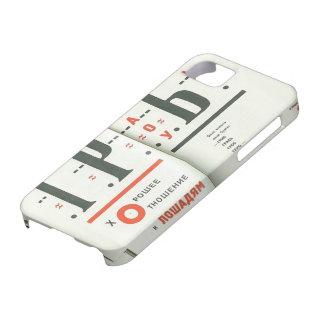 Ejemplo del EL Lissitzky- a para el voice iPhone 5 Case-Mate Carcasas