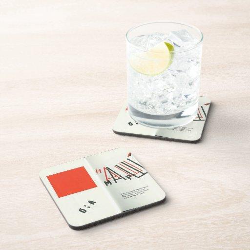 Ejemplo del EL Lissitzky- a 'para el voice Posavasos De Bebida