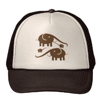 Ejemplo del elefante de la mirada del cuero de gorras