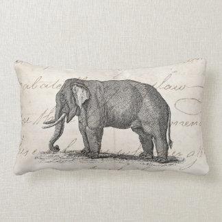 Ejemplo del elefante de los 1800s del vintage - cojin