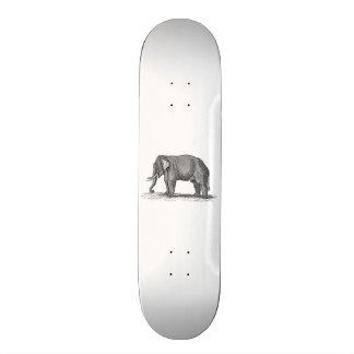Ejemplo del elefante de los 1800s del vintage - el patin personalizado