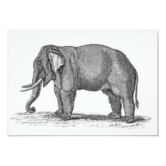 """Ejemplo del elefante de los 1800s del vintage - invitación 3.5"""" x 5"""""""