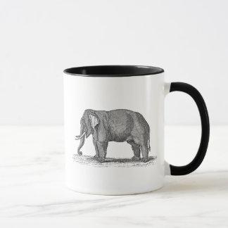 Ejemplo del elefante de los 1800s del vintage - taza
