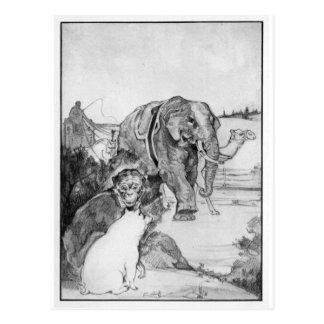 Ejemplo del elefante del vintage tarjetas postales