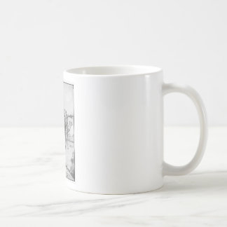 Ejemplo del elefante del vintage taza de café