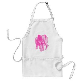Ejemplo del elefante rosado delantal