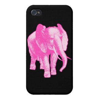 Ejemplo del elefante rosado iPhone 4 fundas