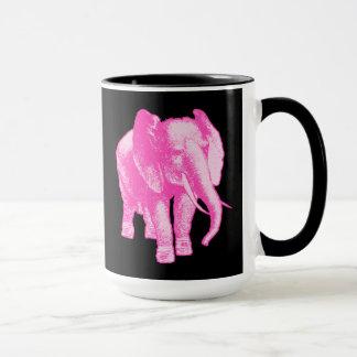 Ejemplo del elefante rosado taza