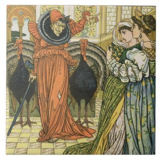 Ejemplo del enano amarillo, primera edición azulejo cuadrado grande