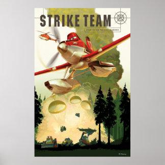 Ejemplo del equipo de la huelga póster