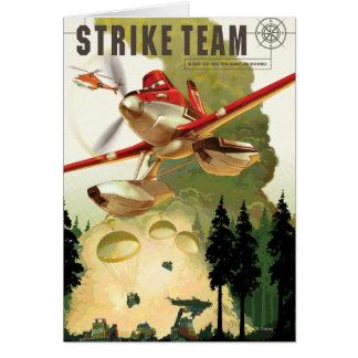 Ejemplo del equipo de la huelga tarjeta de felicitación