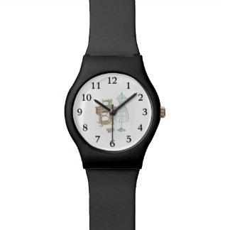 Ejemplo del equipo de la modista del vintage reloj