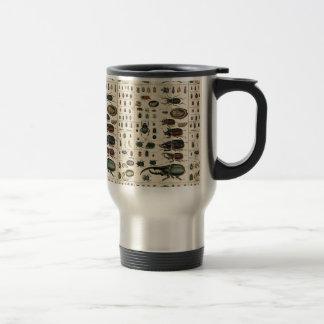 Ejemplo del escarabajo del vintage taza térmica